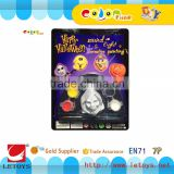 Halloween toys, free painting toy, plastic small figurines, wholesale keychain