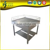 Grocery metal shelf dividers / promotiom table in Guangzhou factory