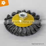 2016 knot steel wire brush good quality bevel brush bevel-brush for grinder machine,made in China