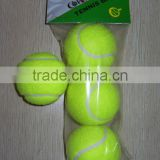 Economical/cheap/promotional bulk customized tennis ball for beginner training/entertainment wholesale price