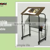 Home furniture mobile notebook stands table, new design adjustable laptop table