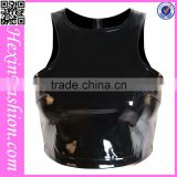 Wholesale Newest Leather Wear Club Wears Sexy Leather Babydoll Dress