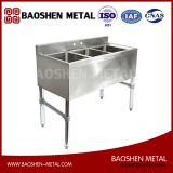 3 Compartment Stainless Steel Commercial Underbar Sink