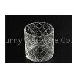 Modern Soda Lime Glass Tea Light Candle Holders Small Heat Proof