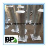 galvanized or powder coated steel bollard