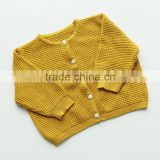 B22268A Hot sale Baby pure color cardigan sweater sweet Pineapple grain Knit sweaters