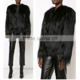 SJ504-01 Fashion Design Long Hair Goat Fur Coats