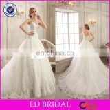 CE95 Attractive Girls Appliqued Lace Tulle Princess With Beading Dress for Civil Wedding
