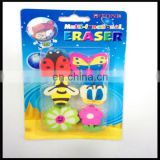 multi-funtional cute puzzle eraser children funny eraser