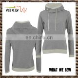 women blank gray spring tall double-deck cap hoodie two colors