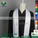 2017 Wholesale Graduation White Satin Plain Stole For Graduation