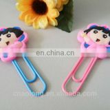 lovely cartoon soft pvc plastic bookmarks,rubber book mark for promotion item
