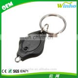 Winho hot sales black Mini led flashlight torch light lamp keychain