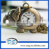 Copper Long Chain Vintage Style Elephant Key Chains with Watch