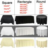wedding polyester tablecloth restaurant and hotel banquet fabric table linens