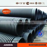 DN500 sn4 plastic culvert black hdpe corrugated pipe for sewerage