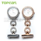 Topearl Jewelry Latest Design Quartz Pin Brooch Antique Nurse Watch High Quality Pocket Watch LPW614