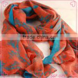 high quality custom printed silk scarves for women