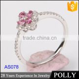 crystal ring jewelry manufactuers and white gold plating ring, fashion jewelry white gold ring