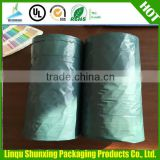 black disposable garbage bag / refuse sacks plastic trash garbage plastic rubbish bags flat bag on roll hdpe rubbish