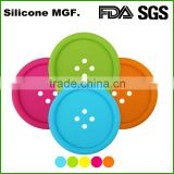 Shinerin round shape silicone pvc magnetic glass cup coaster
