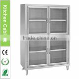 Restaurant Stainless Steel Kitchen Cabinets Top Shelf Simple Design/Kitchen Storage Cabinet with Drawers