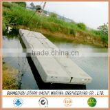 China top quality aluminum/ steel or concrete floating dock pontoon supplier
