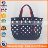 China Supplier Aluminum Foil Composite Film Neoprene Lunch Bag White Dots Neoprene Cooler Bag