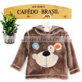 2016 fashion baby wearing hoodie fleece hoodie for boys with chest cartoon monkey