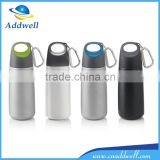 Portable sport travel stainless steel thermos vacuum flask with carabiner                                                                         Quality Choice