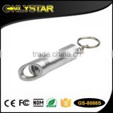 Onlystar GS-8088S Aluminum 3 led mini ultra bright flashlight keychain bottle opener                                                                         Quality Choice