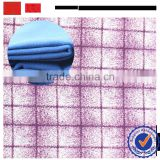 over coat brushed printed fabric from china / shaoxing best TR two side brush fabric manufacturer