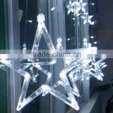 Stars LED Curtain Fairy String Lights Window Curtain Lamp Star Styled For Christmas, Parties, Wedding, Festival Decorations