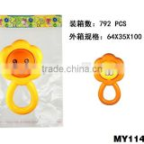 Funny hand toy baby rattle bells plastic hand toy baby rattle toys wholesale lion shape bell