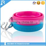 Wholesale New Age Products 500ml Bones Stamping food and water travel silicone dog bowl