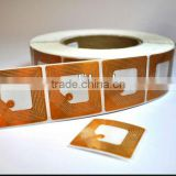 Factory direct transparent sale eas soft label 40*40 rf soft label tag for clothing shop