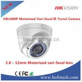 2mp 1080p ir hdcvi cctv camera,Hikvision HD1080P Motorized Vari-focal IR Turret CameraTVI DS-2CE56D1T-IR3Z
