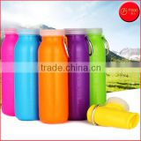 Reusable Collapsible BPA Free Silicone Water Bottle 22 Oz Sports Camping Canteen Pocket Bottle