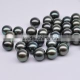 Cultured peacock black tahitian pearls Loose Pearl Bead with certificate