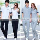 fashion summer wear 2015 fancy cotton couple wear custom clothes tshirt and pants manufacturer                                                                         Quality Choice