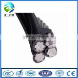 Aluminum xlpe insulated triplex service drop cable with ACSR AAAC bare Neutral Messenger