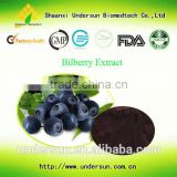 Natural Organic procyanidine 25% blue berry extract / Bilberry extract