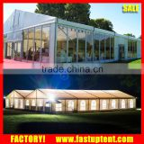 Glass wall Big luxury Outdoor White Wedding Party events Marquee Tent with linnen and curtains for sale