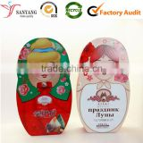 Food grade small cute baby design metal tin box