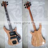 4string Rik neck through body electric bass guitar in mahogany wood