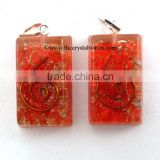 Red Orgone Square Shape Pendants