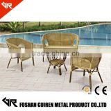 GR-R65016 Wholesale poly rattan garden sofa poly rattan furniture