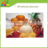 Disposable 3d lenticular pp plastic table mat placemat
