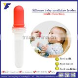 Safety medicine feeder/dispenser/dropper for baby with soft BPA free bottle