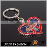 Crystal Customized Amsterdam Shape Tourist Souvenir Gift Keychain High Quality Bling Keychain